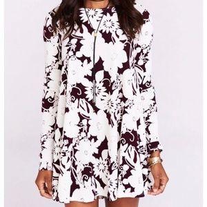Show Me Your Mumu Tyler Tunic Dress Burgundy Bloom